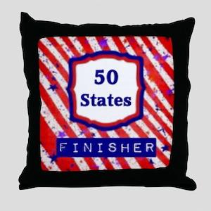 50 States Finisher Throw Pillow