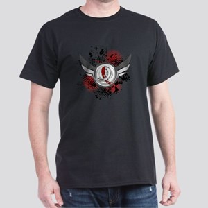 Aplastic Anemia Grunge Ribbon Wings Dark T-Shirt