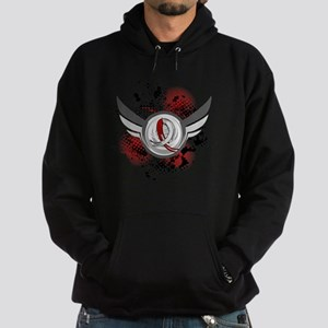 Aplastic Anemia Grunge Ribbon Wings Hoodie (dark)