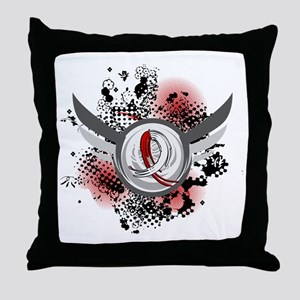 Aplastic Anemia Grunge Ribbon Wings Throw Pillow