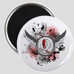 Aplastic Anemia Grunge Ribbon Wings Magnet