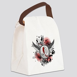 Aplastic Anemia Grunge Ribbon Win Canvas Lunch Bag