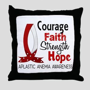 Courage Faith 1 Aplastic Anemia Throw Pillow
