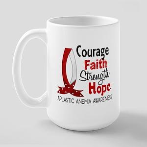 Courage Faith 1 Aplastic Anemia Large Mug