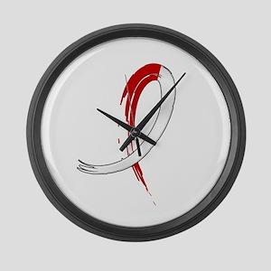 Aplastic Anemia Graffiti Ribbon Large Wall Clock
