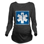 EMT EMS Paramedics Long Sleeve Maternity T-Shirt