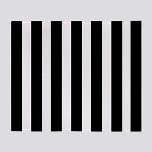 Sleek black and white stripes Throw Blanket