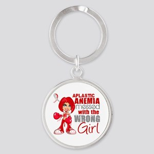 Aplastic Anemia Messed With Wrong G Round Keychain