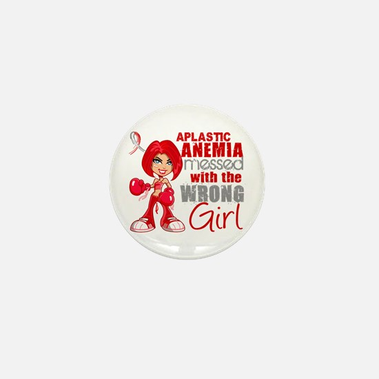 Aplastic Anemia Messed With Wrong Girl Mini Button