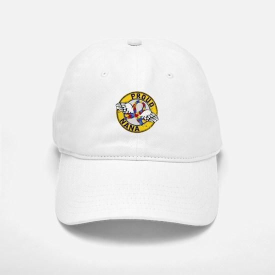 Autism Proud Nana 3 Yellow Baseball Baseball Cap
