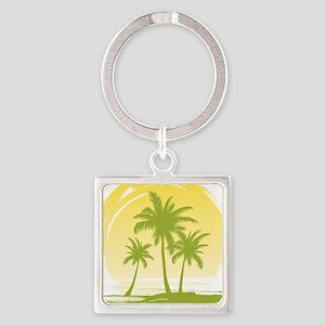 Green Palm Tree Keychains