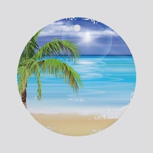 Beach Scene Ornament (Round)