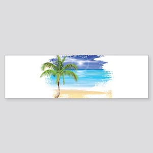 Beach Scene Bumper Sticker
