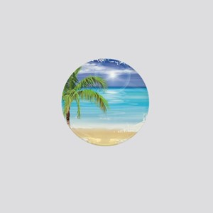 Beach Scene Mini Button
