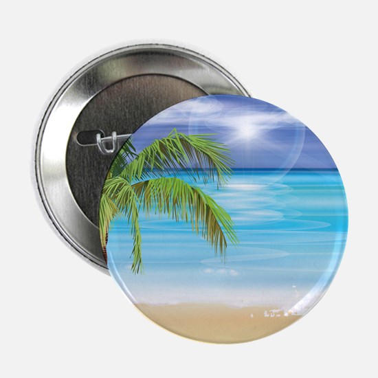"Beach Scene 2.25"" Button (10 pack)"