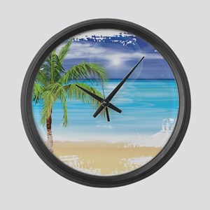 Beach Scene Large Wall Clock