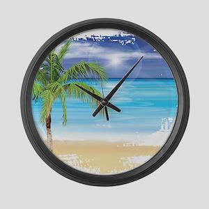 Beach Scene Large Wall Clock