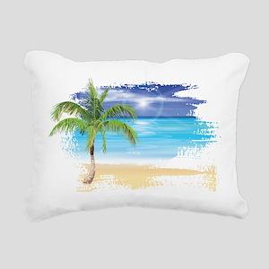 Beach Scene Rectangular Canvas Pillow