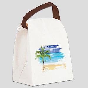 Beach Scene Canvas Lunch Bag