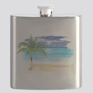 Beach Scene Flask