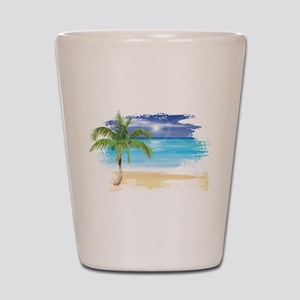 Beach Scene Shot Glass