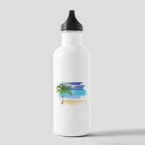 Beach Scene Water Bottle