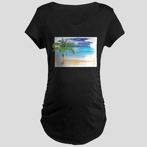Beach Scene Maternity T-Shirt