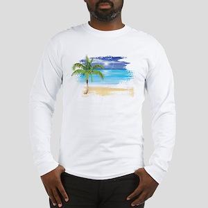 Beach Scene Long Sleeve T-Shirt