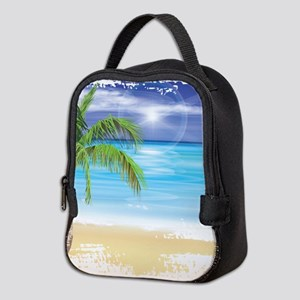 Beach Scene Neoprene Lunch Bag