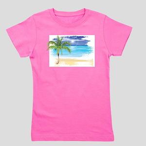 Beach Scene Girl's Tee