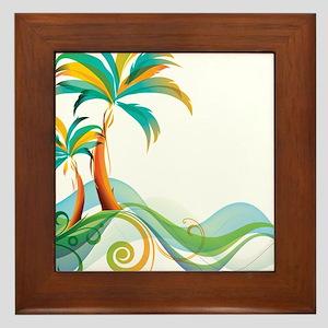 Rainbow Palm Tree Framed Tile