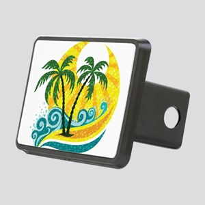 Sunny Palm Tree Hitch Cover