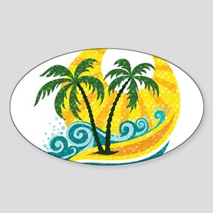 Sunny Palm Tree Sticker