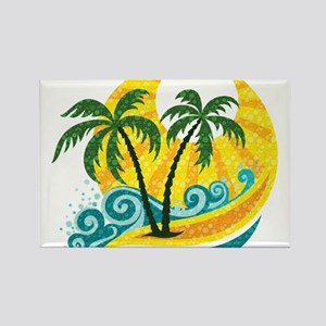 Sunny Palm Tree Magnets
