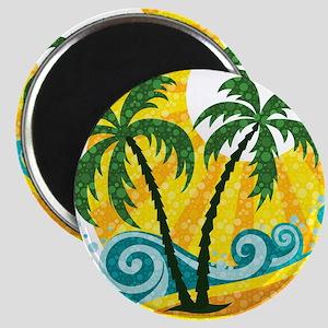 Sunny Palm Tree Magnets