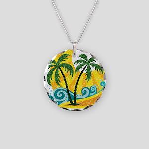 Sunny Palm Tree Necklace