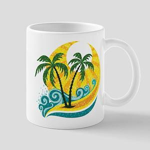 Sunny Palm Tree Mugs