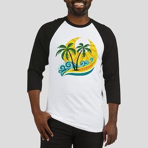 Sunny Palm Tree Baseball Jersey