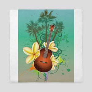 Tropical Guitar Queen Duvet