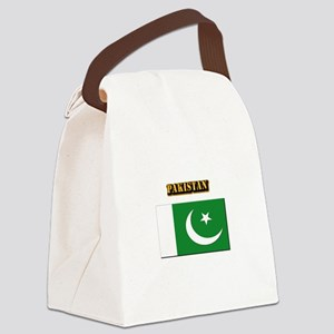 Flag of Pakistan with Text Canvas Lunch Bag