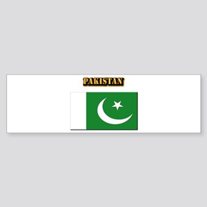 Flag of Pakistan with Text Sticker (Bumper)
