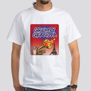 White Grumpy Grandpa T-Shirt