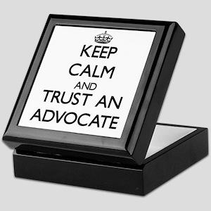 Keep Calm and Trust an Advocate Keepsake Box