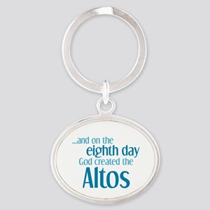 Alto Creation Oval Keychain