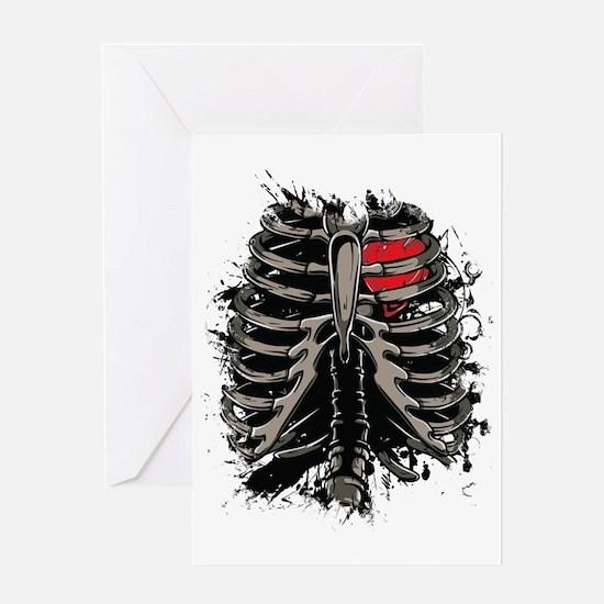 Skeleton Rib Cage Greeting Card