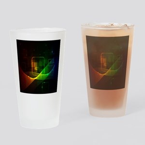 Abstract Drinking Glass