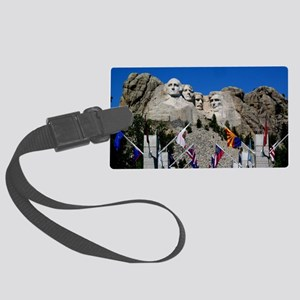 Mt Rushmore Avenue of Flags Sout Large Luggage Tag