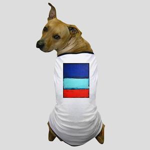 ROTHKO RED_BLUE Dog T-Shirt