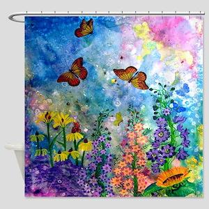 Butterfly Garden Shower Curtain