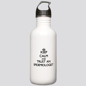 Keep Calm and Trust an Epidemiologist Water Bottle